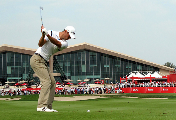 By the time he reached the home hole, Kaymer had locked up his third career win in Abu Dhabi.