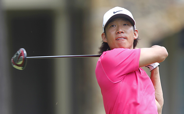 Anthony Kim had a one-shot lead entering Sunday, but faded to a tie for 14th after a 74.