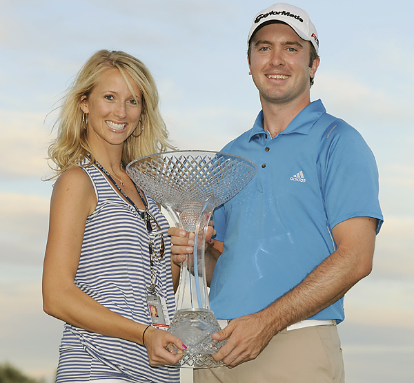 Meagan Franks                                                          Martin Laird's fiance celebrated this win at the 2009 Timberlake, and another victory at the 2011 Arnold Palmer Invitational.