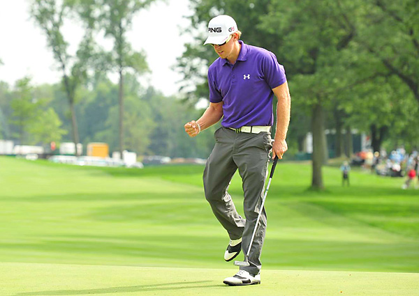Mahan picked up his second Tour victory of the season, and clinched a spot in the Ryder Cup this October.