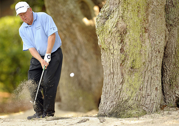 Billy Mayfair found tree trouble en route to an opening-round 70.