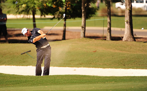 Graeme McDowell made five birdies and three double bogeys for a one-over 73.
