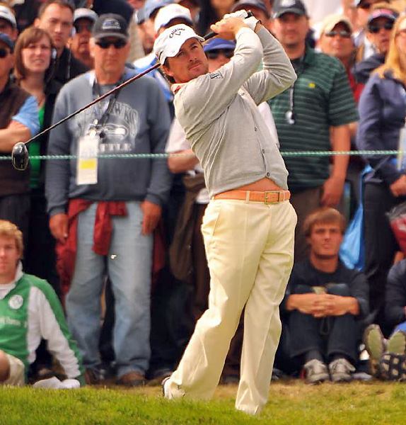 Graeme McDowellmarched to the U.S. Open championship wearing a cozy, dove-gray cardigan, pink shirt and yellow pants. Maybe he just lulled everyone to sleep. McDowell, who also subdued Tiger Woods at the Chevron World Challenge, has his golf clothes custom made in Dublin.