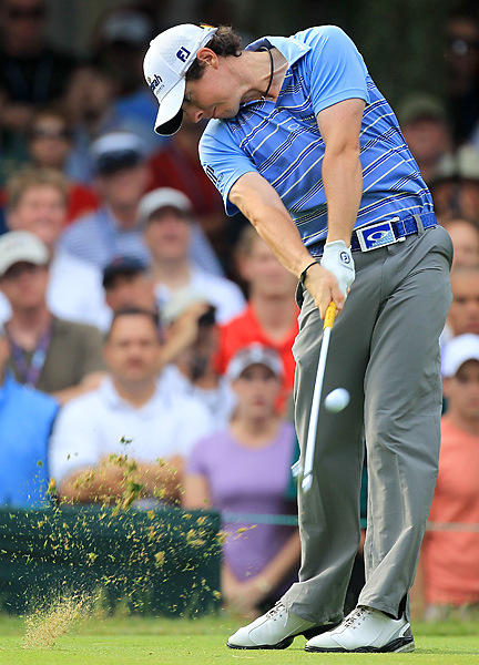 Rory McIlroy started the day with a three-shot lead.