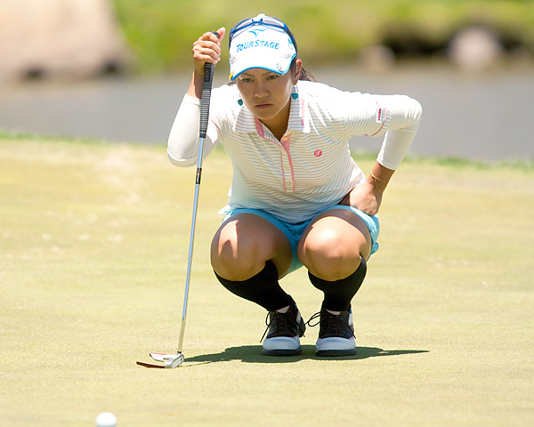 Miyazato shot a course-record 10-under 63 in her opening round at the Tres Marias Championship.