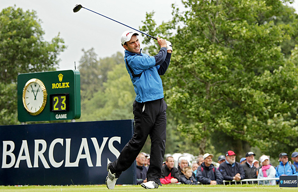 of Italy finished off his first European Tour victory, shooting a 3-over 74 to beat Darren Clarke by three shots.