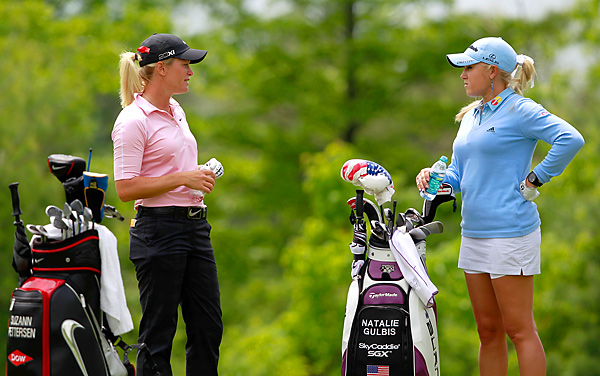 Suzann Pettersen and Natalie Gulbis faced off in Round 1. Pettersen won three of the last four holes to win the match 1 up.