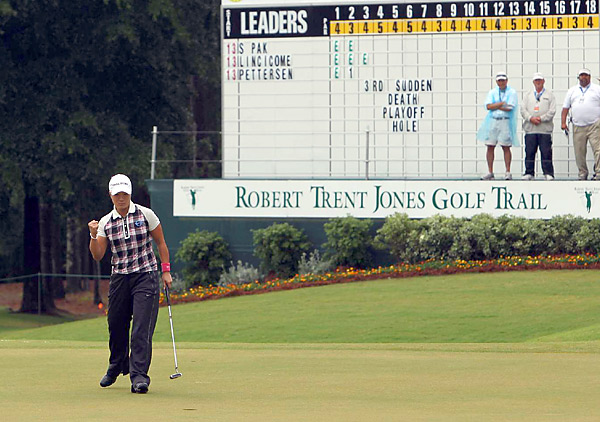 Pak birdied the third hole to remain unbeaten in six career playoffs.