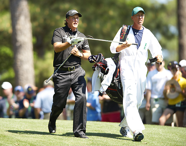 "Phil Mickelson and Jim Mackay                           Phil Mickelson has won as a pro with only one caddie, Jim ""Bones"" Mackay, in the second-most-successful pairing ever."