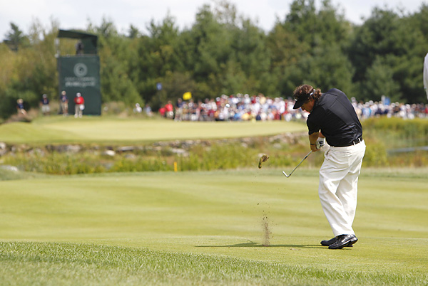 Phil Mickelson began the final round four shots out of the lead. He shot a 69 and finished nine under.