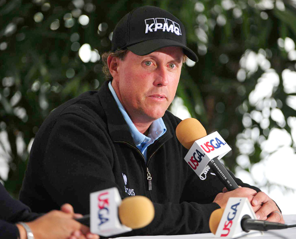 said he feels confident in his game heading into Pebble Beach this week.