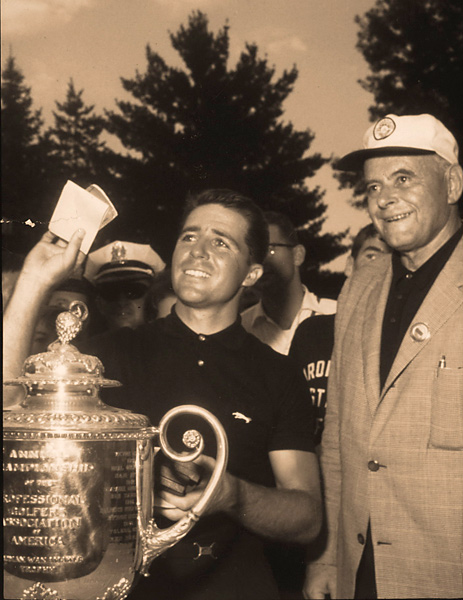 3. The 1962 PGA Championship                       Player held off Bob Goalby by one shot at Aronimink for his first PGA Championship.