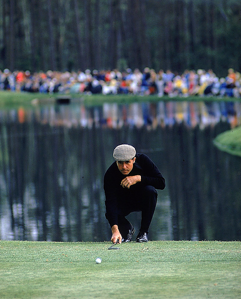 Shown here at Augusta in 1976, Player won the Masters in 1961, 1974 and 1978.