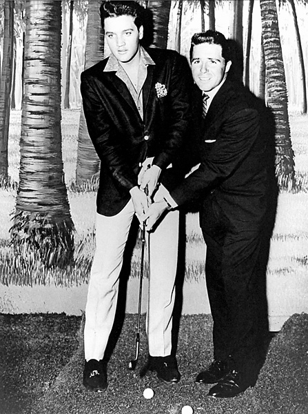 As Player's fame grew he began to cross paths with celebrities, including Elvis Presley on the set of 'Blue Hawaii' in 1961.