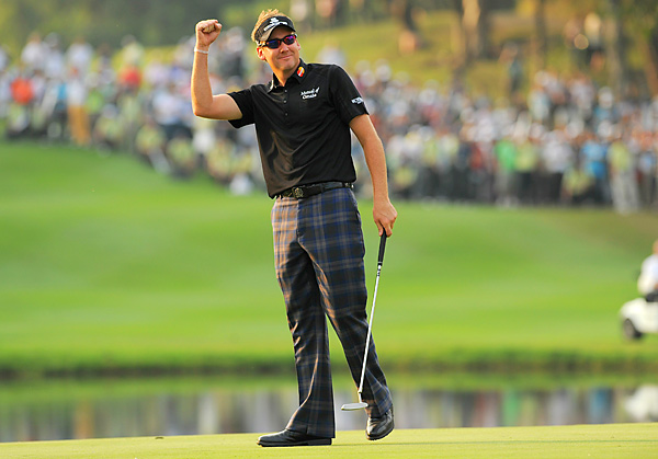 1. Ian Poulter                                                      Followers: 1,076,725                           Twitter Handle: @IanJamesPoulter                                                      Sample Tweet: Im off to the gym now @WestwoodLee ive got to strengthen my sparrows legs if im going to get within 40 yards of u in 2011, ta ta