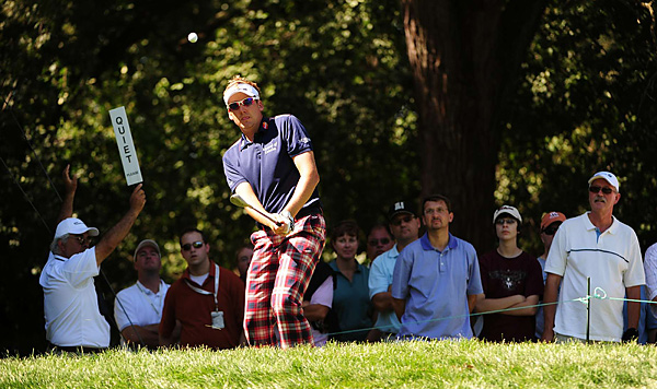 was in the hunt before making a triple bogey on the 11th hole. He finished tied for 13th.