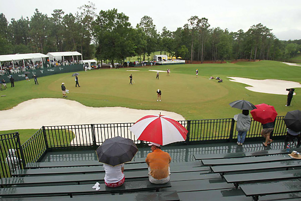 Rain made most of the course unplayable, so the tourney elected to conduct a sudden death playoff with the three players who were tied for the lead after three rounds: Se Ri Pak, Suzann Pettersen, and Brittany Lincicome. The threesome played the 18th hole repeatedly until a champion was crowned.