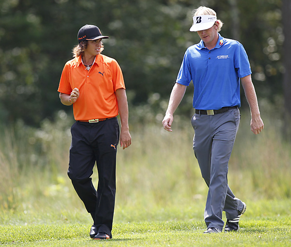 Rickie Fowler and Brandt Snedeker were paired together in the final round. Fowler stumbled to a 77 and finished T52, while Snedeker shot 66 to finish T3.