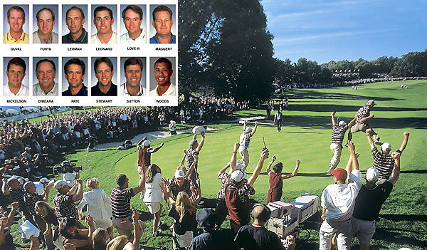 When Justin Leonard made his long, snaking putt to clinch the Ryder Cup for the U.S., seemingly the entire American team and their wives and caddies came stampeding onto the green. One problem: Jose Maria Olazabal still had a putt to halve the hole. Having endured abuse from the vocal Boston fans all week, the Europeans were apoplectic at the final indignity, and after Olazabal missed his putt, they fired back in the press. 1999 U.S. Ryder Cup team                             When Justin Leonard made his long, snaking putt to clinch the Ryder Cup for the U.S., seemingly the entire American team and their wives and caddies came stampeding onto the green. One problem: Jose Maria Olazabal still had a putt to halve the hole. Having endured abuse from the vocal Boston fans all week, the Europeans were apoplectic at the final indignity, and after Olazabal missed his putt, they fired back in the press. The ill-timed celebration and hurt feelings marked a low point — if not THE low point — in the then-72-year history of the once-cordial biennial exhibition.