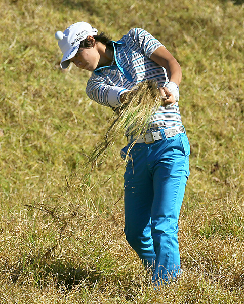 Ryo Ishikawa struggled to a five-over 76 on Thursday.