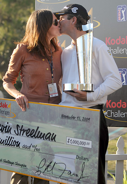 Courtney Streelman                                                          Kevin's wife celebrated with her husband after his win at the 2009 Children's Miracle Classic at Disney.