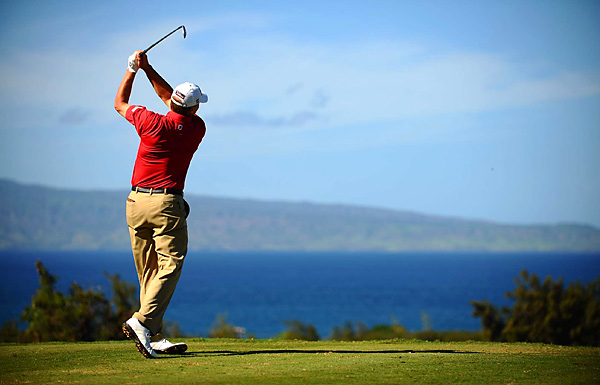 Under clear Hawaiian skies, Stricker shot a 71 to finish tied for fourth.