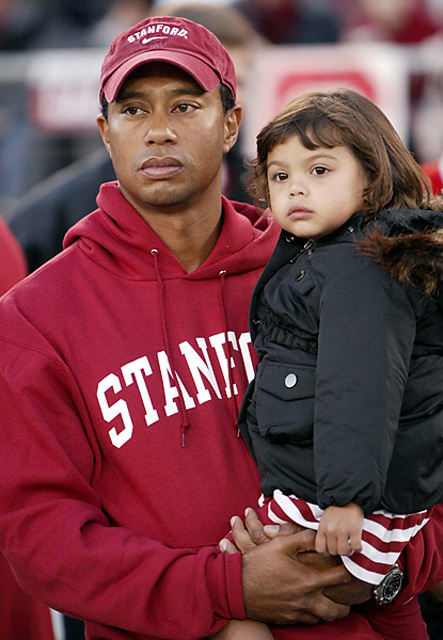 Booed at 2009 Cal-Stanford game Woods was introduced at halftime of the 2009 Stanford-Cal game, where he was inducted into the Stanford Hall of Fame. His short speech was interrupted when Cal fans loudly booed him.