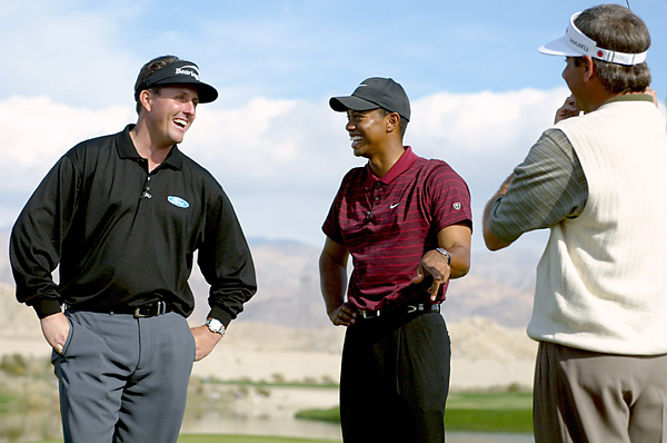 Dec. 12, 2002: Less than two weeks after taking on Phil Mickelson and Fred Couples in the Skins Game, Woods has surgery to remove fluid inside and around the anterior cruciate ligament of his left knee. He misses the season-opening Mercedes Championship for the first time, and returns 10 weeks later to win the Buick Invitational.