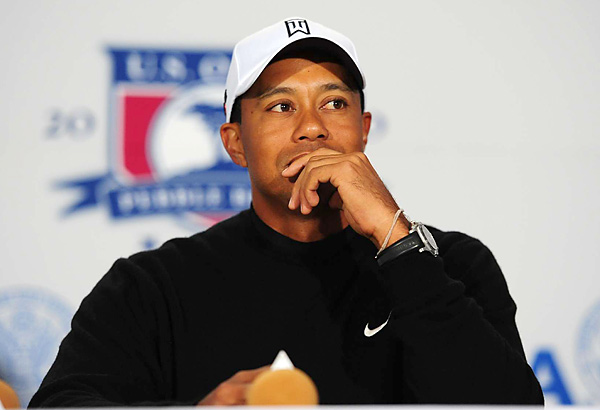 At his press conference, Tiger Woods said his game has been rounding into form just in time for the Open.