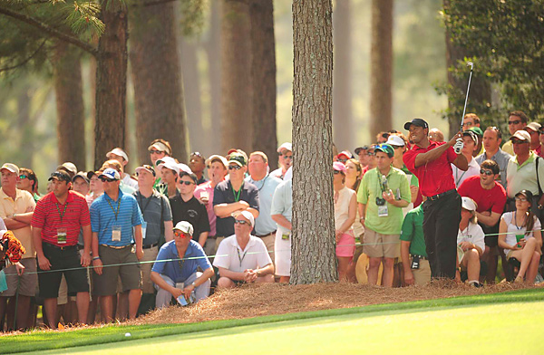 Woods shot a 31 on the front nine.