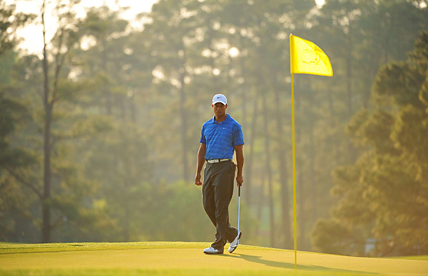 Woods has never come from behind on Sunday to win a major. He currently trails by seven.