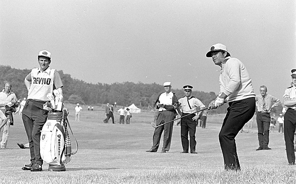 Lee Trevino and Willie Aitchison                           Lee Trevino won the British Open at Muirfield in 1972 (shown here) with Willie Aitchison on his bag, and Willie came back for one more spin when Trevino played his final Open at the Old Course in 2000.