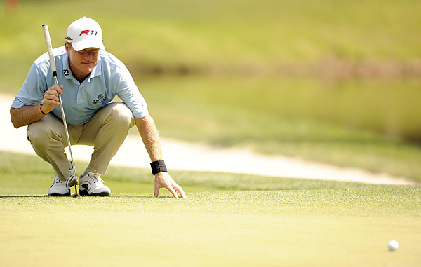 Scott Verplank was in contention until he bogeyed three out of four holes on the back nine. He also finished T9.