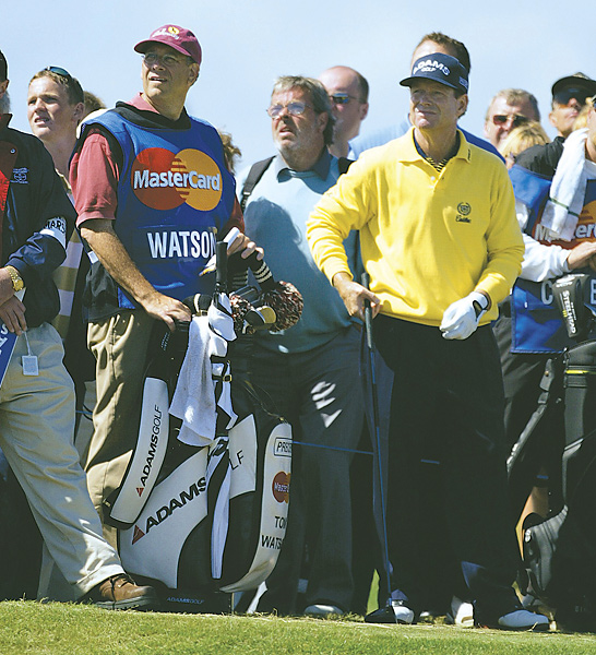 In recent years, Tom Watson, a noted conservative, has often had Democratic political consultant Neil Oxman caddying for him.