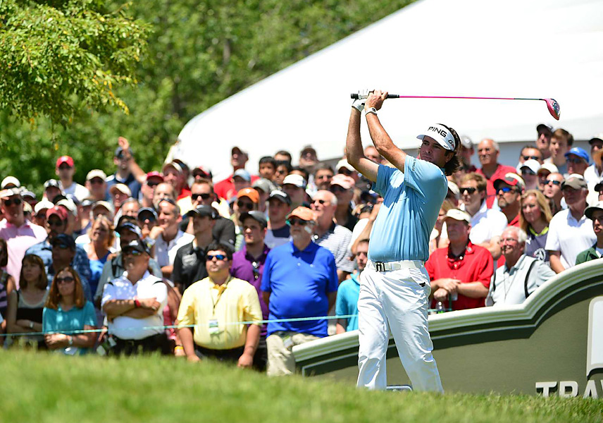 Bubba Watson entered the final round four shots off the lead. He shot a 65 to finish one shot behind Leishman.