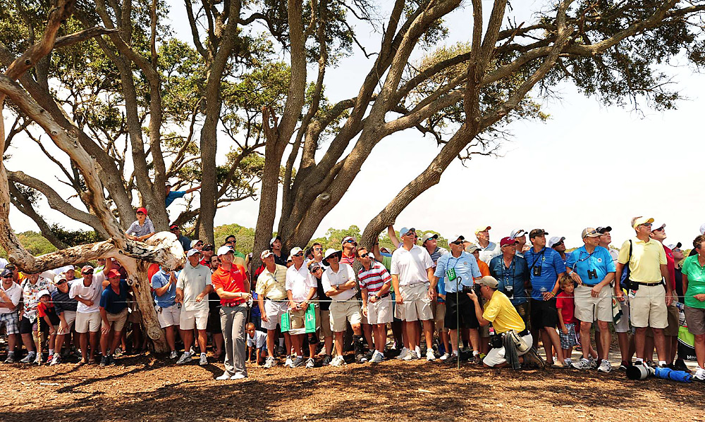 Rory McIlroy began the final round with a three-shot lead. He made a birdie on the second hole, despite playing his second shot from the trees.