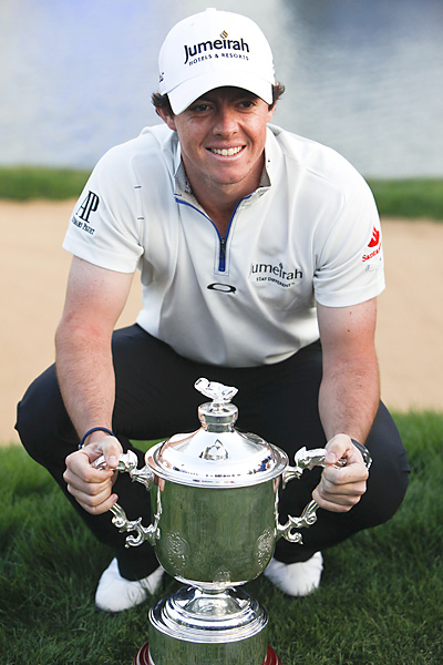 McIlroy earned $2 million for the win -- the richest first prize in pro golf.