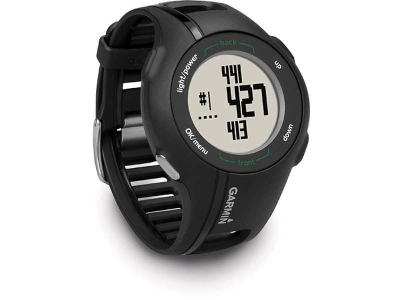 Garmin Approach S1 Wrist Watch ($200; golfsmith.com)                           The Garmin Approach S1 Wrist Watch is a wearable GPS unit that gives you accurate distances to the front, middle, and back of the greens as well as individual shot distances. It comes preloaded with over 14,000 American and Canadian courses.