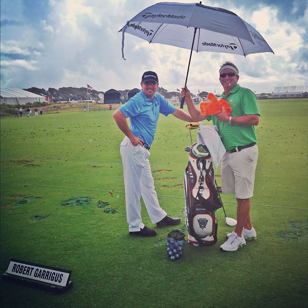 """@StephanieWei: @robertgarrigus @brenthenley @ Driving Range at The Ocean Course."""