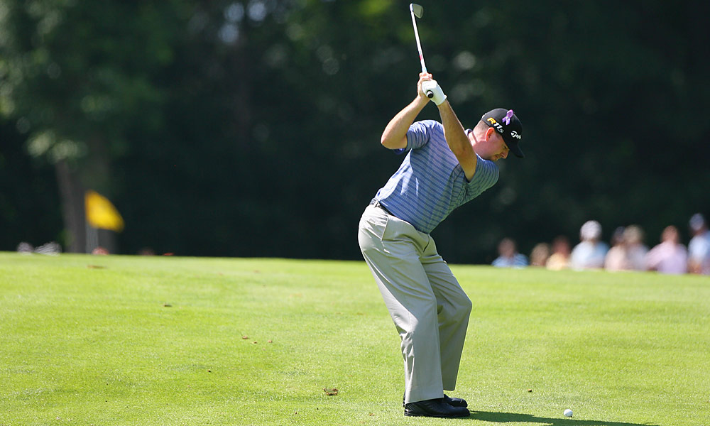 With his round of 64, Garrigus broke Arnold Palmer's 54-hole scoring record at the Canadian Open.