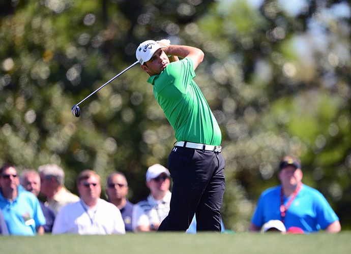 Long-hitting Gary Woodland shot 70 to join the group tied for fourth, two back of Bill Haas.