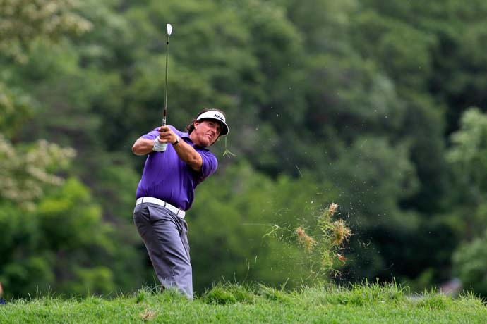 The Greenbrier was Mickelson's first event since he finished runner-up to Justin Rose at the 2013 U.S. Open.