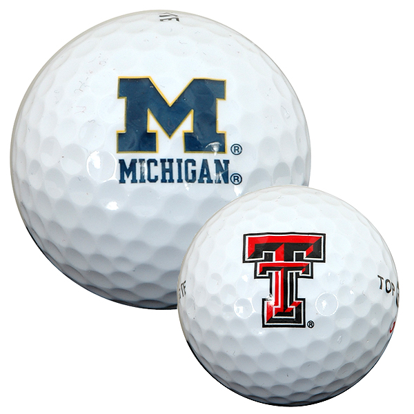 NCAA Golf Balls                           $12.88, shoppga.com                           Show your school spirit on every shot. When you want to add a few yards to your drive, consider a sleeve with the logo of your school's biggest rival. That should provide some motivation for a big swing.                            Also try:                           A bucket of balls from nflshop.comComplete Holiday Gift Guide