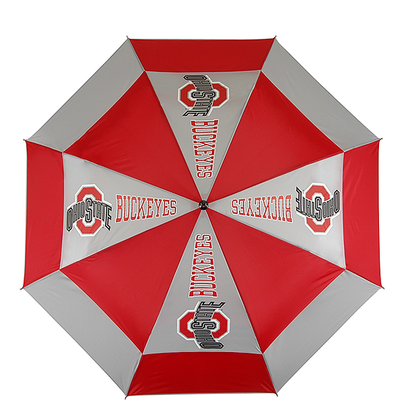 Golf Gear for the Sports Fan                                                       Sports fans can show their pride on and off the course with golf gear representing NCAA and pro teams. We've found a variety of equipment that you can personalize with the logos of your favorite team.                                                       NCAA Windsheer II Auto-Open Umbrella                           $29.88, shoppga.com                           This 62-inch umbrella has a patented wind-release system that prevents it from inverting on windy days.                                                        Shop for other team umbrellas on shoppga.comComplete Holiday Gift Guide