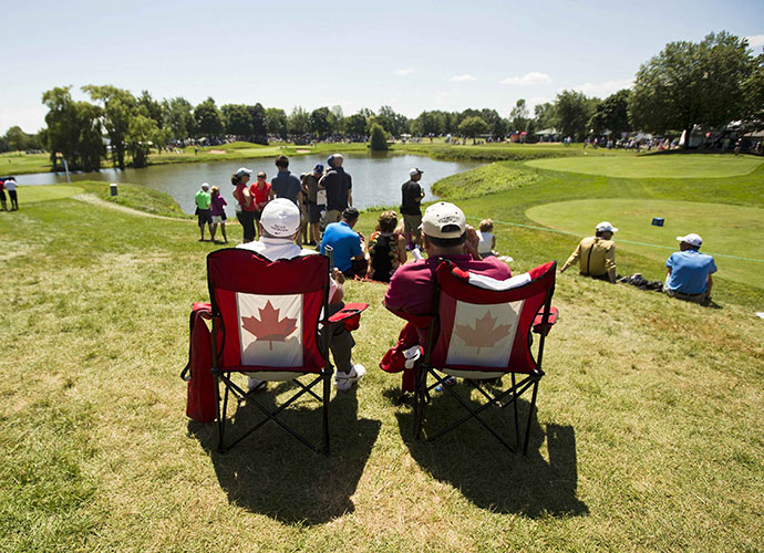"8. O, Canada: To hone the ""stadium golf"" concept, Pete Dye and wife Alice traveled up to Toronto to see Glen Abbey, site of the Canadian Open. Jack Nicklaus, Dye's design consultant at Harbour Town, created Glen Abbey in 1976 and it was the first course to have specially constructed spectator mounds."