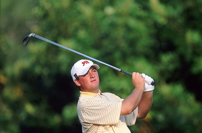 Graeme McDowell at the 2001 Walker Cup at Ocean Forest Golf Club in Sea Island, Ga. Great Britain and Ireland won the event that year.
