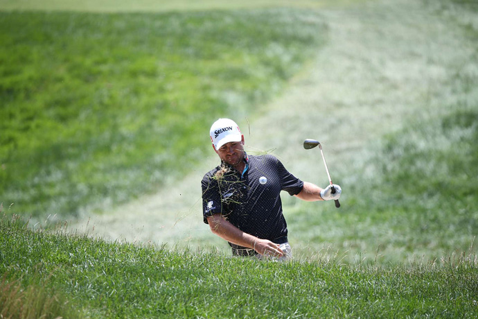 Graeme McDowell will miss the cut after making four double bogeys on Friday.