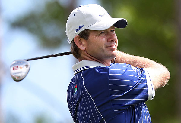 Teammates Retief Goosen and Graeme McDowell scored a four-shot win for Lake Nona over J.B. Holmes and Daniel Chopra.