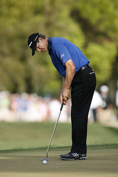 How did Goosen win with so few birdies? Putting. He was 55 for 55 inside five feet and 62 for 64 inside 10 feet.