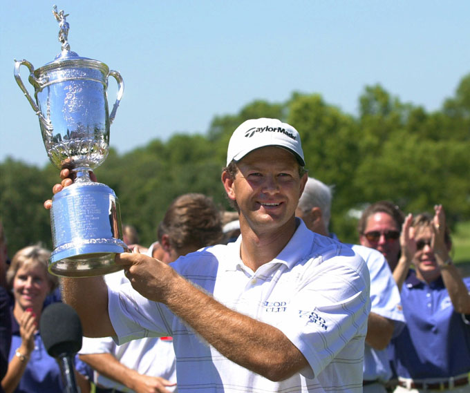 THE GOLDEN GOOSE                           Retief Goosen spoils Tiger's bid for a fifth consecutive major by winning the 2001 U.S. Open at Southern Hills Country Club in Tulsa, Oklahoma. Tiger ties for 12th, eight shots back.